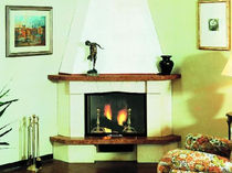 traditional corner fireplace (wood-burning closed hearth ) PRATO italiakalor