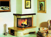 traditional corner fireplace (wood-burning closed hearth ) SIENA italiakalor