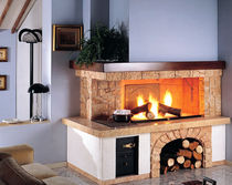 traditional corner fireplace (wood-burning open hearth) STROMBOLI Amiata Caminetti