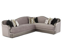 traditional corner sofa HOLLYWOOD SWANK: 03812-23-SILVR-00 MICHAEL AMINI
