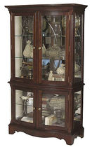 traditional display case CURIO CHINA Broyhill