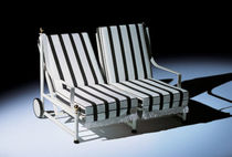 traditional double garden sun lounger with casters VICTORIA Hugonet