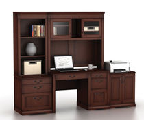 traditional executive wooden office desk SONNET BUSH INDUSTRIES