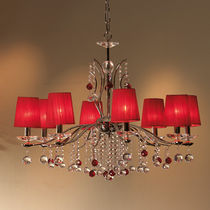traditional fabric chandelier C-390/8 COPENLAMP