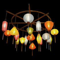 traditional fabric chandelier P-254 WINONA LIGHTING
