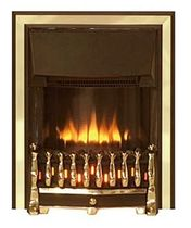 traditional fireplace (electric closed hearth) DORSET 2 BLACK BRASS Broseley Fires