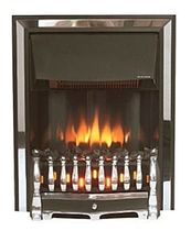 traditional fireplace (electric closed hearth) DORSET 2 BLACK CHROME Broseley Fires