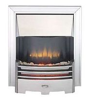 traditional fireplace (electric closed hearth) DORSET 2 STAINLESS STEEL Broseley Fires