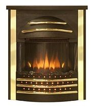 traditional fireplace (electric closed hearth) SICILIAN 2 BLACK BRASS Broseley Fires