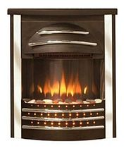 traditional fireplace (electric closed hearth) SICILIAN 2 BLACK CHROME Broseley Fires