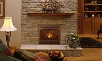 traditional fireplace (gas closed hearth) QV32A QUADRA-FIRE