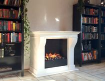 traditional fireplace (electric open hearth) ELEKTROKAMIN CARRARA - EL Kamin-Design GmbH &amp; Co KG Ingolstadt