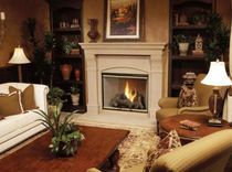 traditional fireplace (wood-burning closed hearth )  ASMAZ WOOD FRAME CUSTOM HOMES