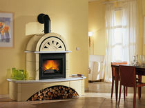 traditional fireplace (wood-burning closed hearth ) FALÒ 1C Nordica