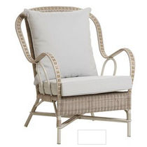 traditional garden armchair in resin wicker 1603 KOK MAISON