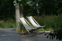 traditional garden folding garden sun lounger H55 by Björn Hultén BERGA FORM