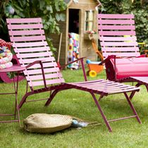traditional garden folding garden sun lounger BISTRO FERMOB