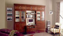 traditional glass and wood TV wall unit REIMS 12 Bassi F.lli
