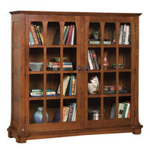 traditional glass front bookcase MISSION : GUS STICKLEY