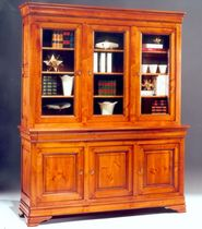 traditional glass front bookcase 1031 Meubles Flaux