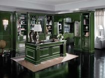 traditional lacquered wooden bookcase BEATRICE Onlywood SRL