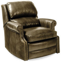 traditional leather armchair MARTIAL HANCOCK AND MOORE
