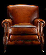 traditional leather armchair GEORGE BERKLEY Fleming & Howland