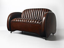 traditional leather club sofa MUSTANG Fleming & Howland