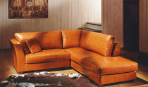 traditional leather corner sofa AUSTIN Poles Salotti