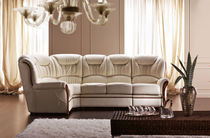 traditional leather corner sofa NADIA Rosini