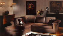 traditional leather corner sofa LUXOR ANGOLARE Poles Salotti