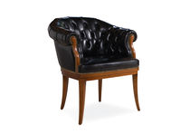 traditional leather office armchair GUEST BERTO SALOTTI