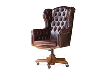 traditional leather office armchair MANAGER BERTO SALOTTI