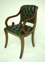traditional leather office armchair BERKLEY CARVER Kingsgate Furniture ltd