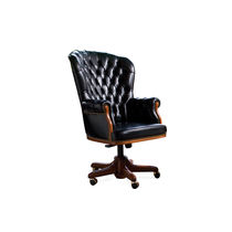 traditional leather office armchair PRESIDENT BERTO SALOTTI