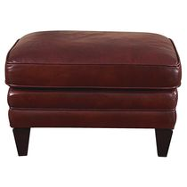 traditional leather pouf BALDWIN BASSET