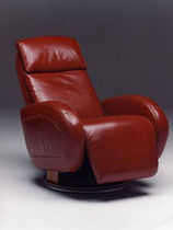 traditional leather recliner armchair HAWAI Satis