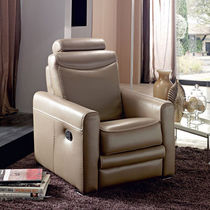 traditional leather recliner armchair LUCCA Rosini