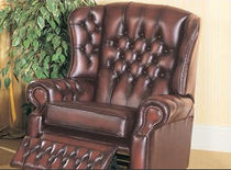 traditional leather recliner armchair CANTERBURY Saxon Leather Upholstery 