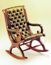traditional leather rocking armchair SLIPPER ROCKER CHAIR Kingsgate Furniture ltd