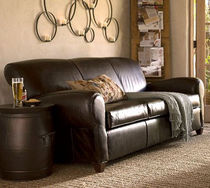 traditional leather sofa MANHATTAN  POTTERYBARN