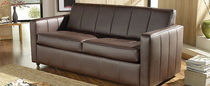 traditional leather sofa bed BRONTE  Saxon Leather Upholstery