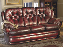 traditional leather sofa CAMBRIDGE Saxon Leather Upholstery