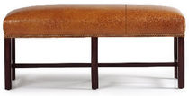 traditional leather upholstered bench HOLLIS  HANCOCK AND MOORE
