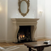 traditional mantel for fireplace THE STONE: VICENZA  Chesney
