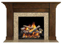 traditional mantel for fireplace (wood) PARSONS QUADRA-FIRE