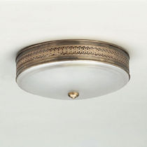 traditional metal ceiling lamp FLUSH FITTINGS : HODNET SILVER BOWL VAUGHAN