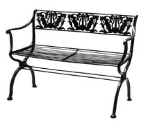 traditional metal garden bench D 60/2 by Karl Friedrich Schinkel Tecta