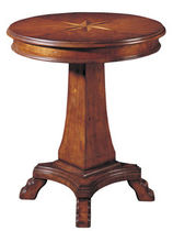 traditional pedestal side table COMPASS ROSE NICHOLS & STONE