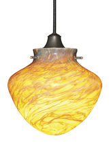 traditional pendant lamp (blown glass, handmade) ARTIFACT: G427  W.A.C Lighting
